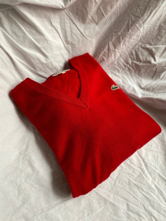 1960s Distressed Lacoste V-Neck Sweater
