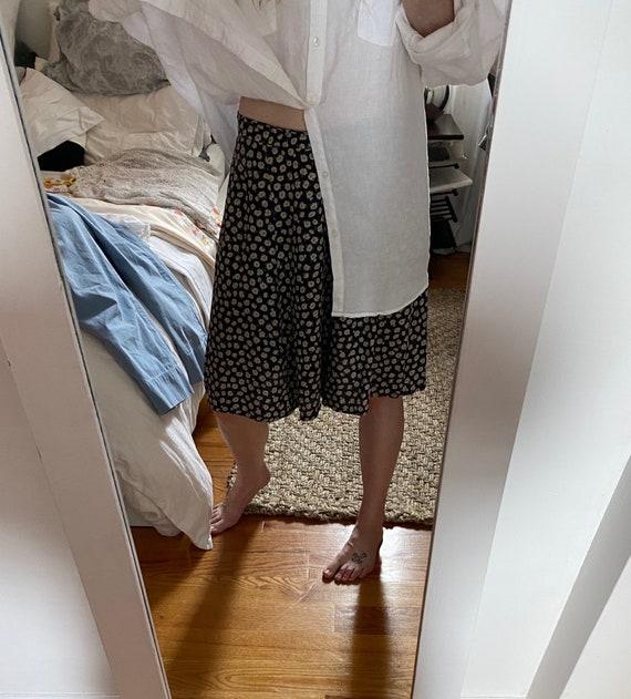 Navy Floral Bermuda Shorts
