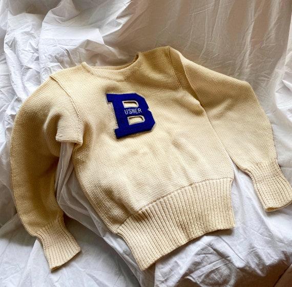 1960S Vintage Wool Varsity Sweater