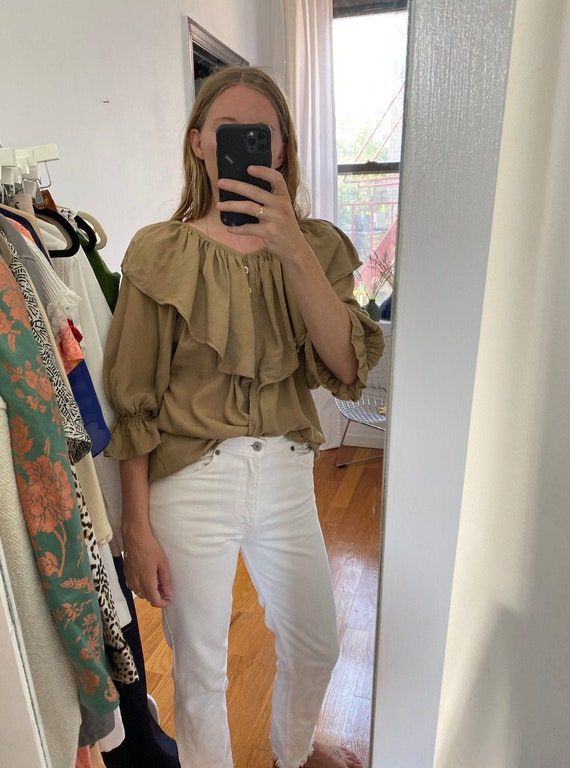8os Does Prairie Style Rayon Blouse