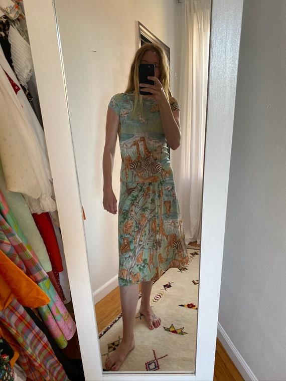 Safari Print Two-Piece Skirt Set
