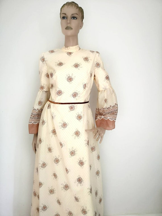 Vintage 1970s prairie dress, prairie dress medium,