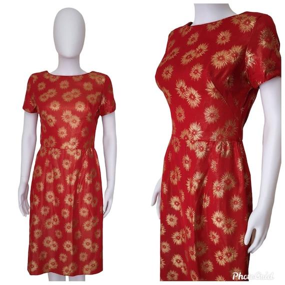 Vintage 1950s wiggle dress small, vintage pinup dr