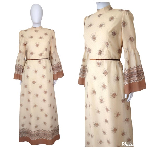 Vintage 1970s prairie dress, prairie dress medium,