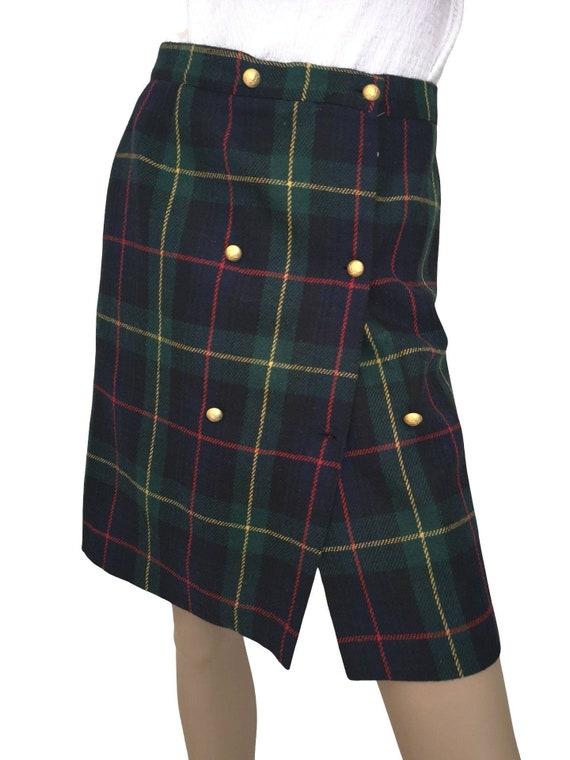 Vintage tartan skirt small, vintage deadstock tart