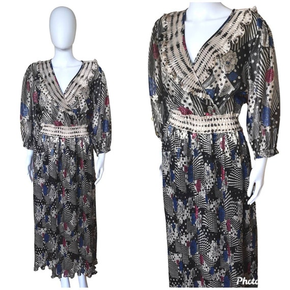 Rare vintage Diane Freis dress, vintage 1970s Dian