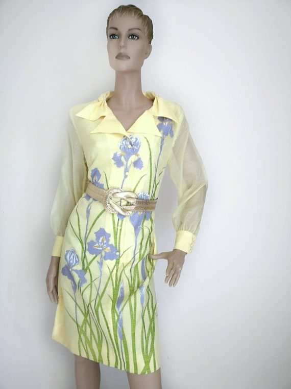 Vintage 1960s Alfred Shaheen dress large, hawaiian
