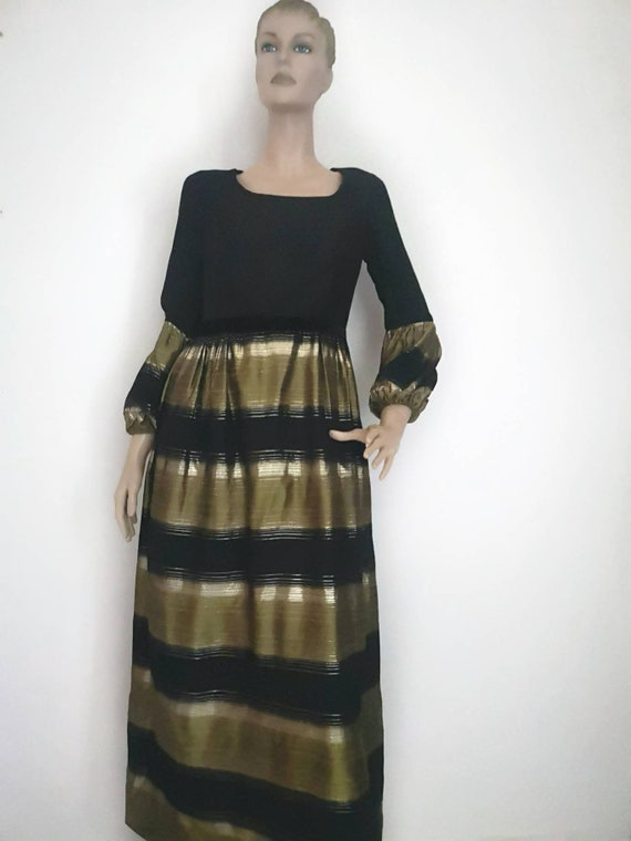 Vintage 1960s evening dress, 1960s maxi dress, vin