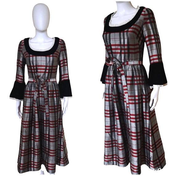 Vintage 1970s Gothic prairie dress small