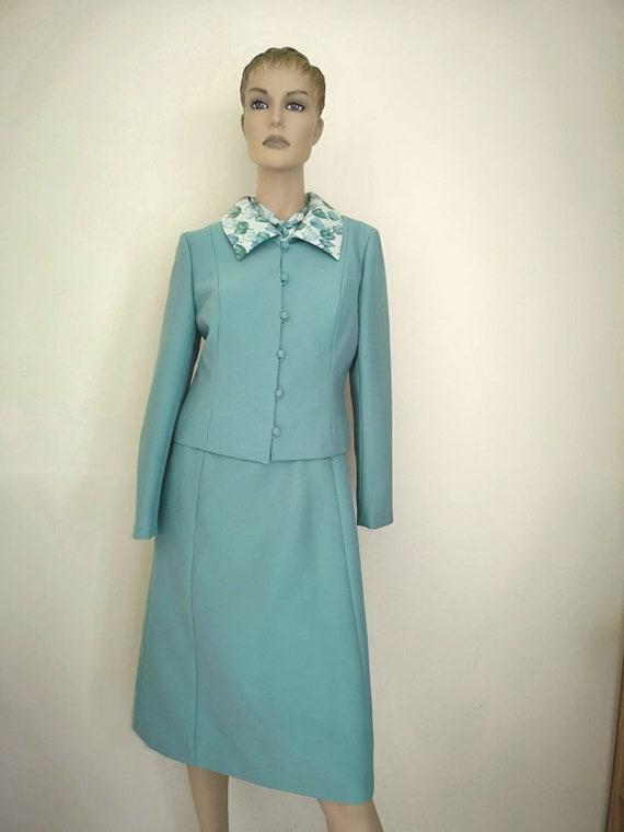 Vintage 1960s dress small, 1960s dress& jacket se… - image 2