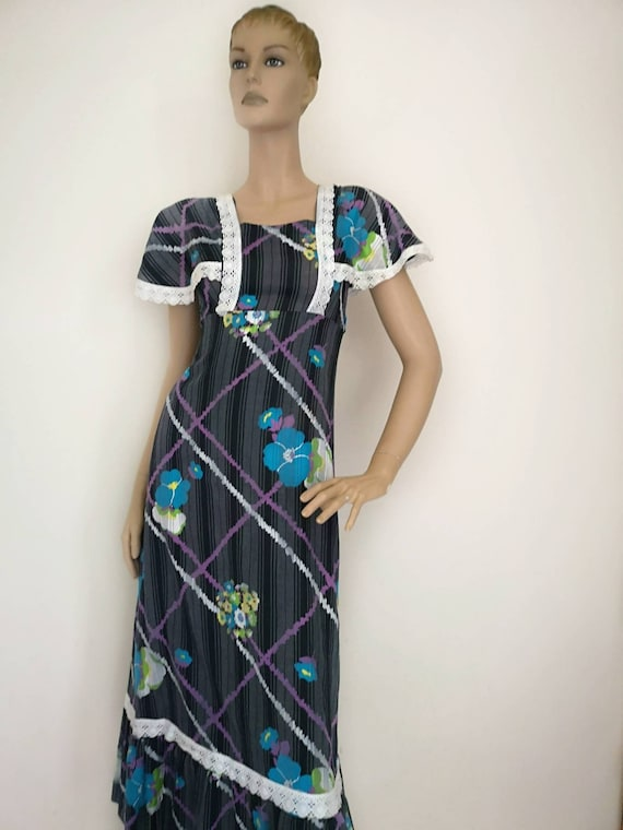 Vintage 1970s prairie dress xs, boho dress small