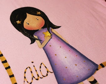 Gorjuss doll with Star, hand painted T-shirt