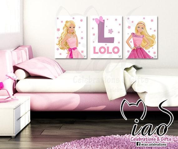 Customized Barbie wall art Barbie doll Decor Barbie print | Etsy
