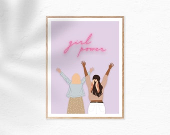 Girl Power | International Womens Day | Empowering Women | Digital Print