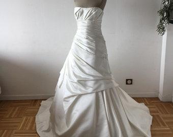 Helene wedding gown strapless, pleasure, new, volume, draped, long dress, wedding