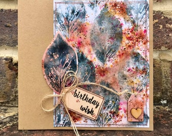 Birthday Wish Wooden Tag