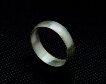 Sterling Silver Half-Round Band (Custom Sized)