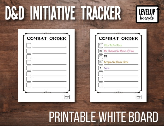 Insane image intended for printable initiative tracker