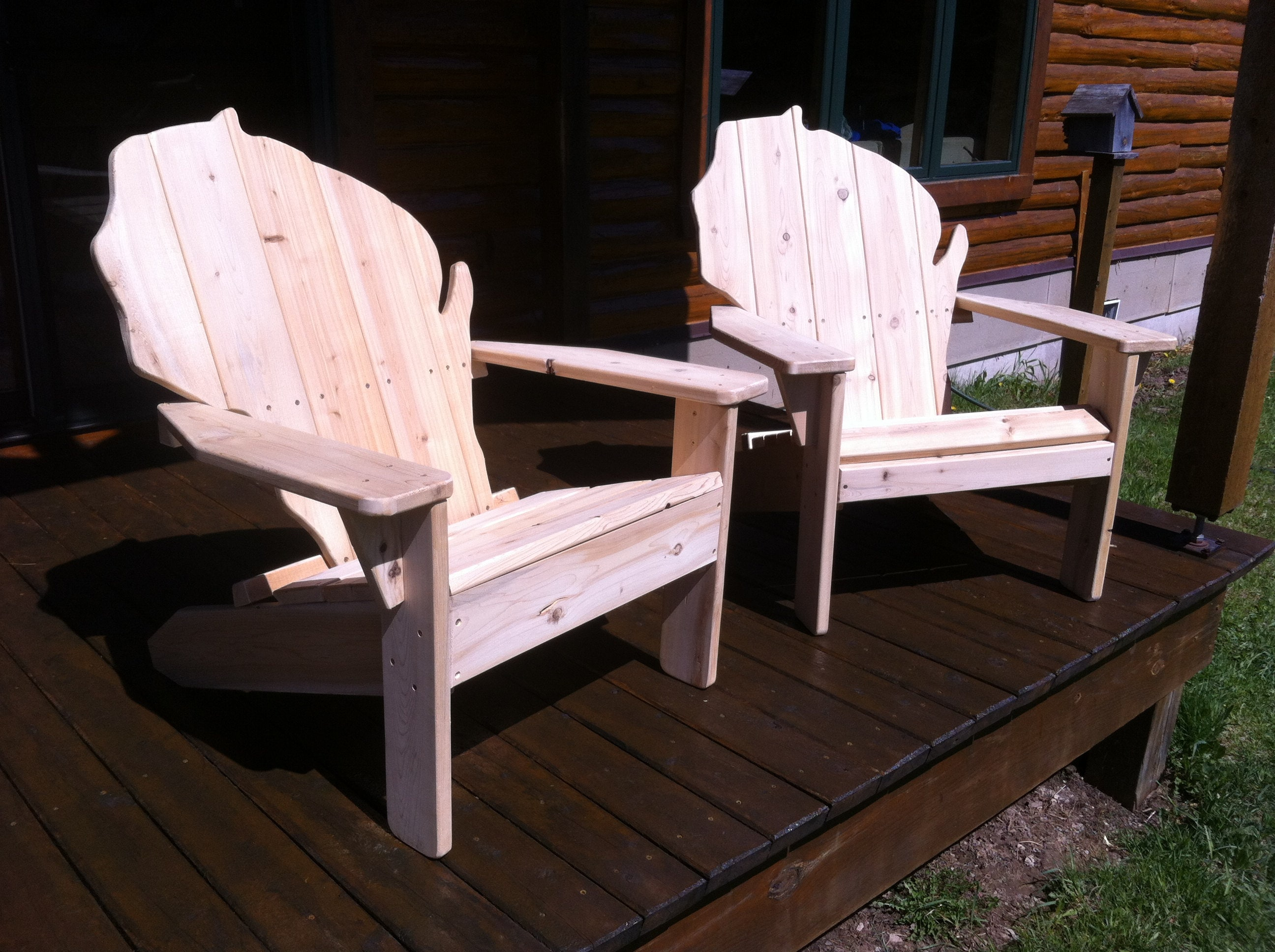 Free Shipping Special Set Of Two Cedar Wisconsin Chairs