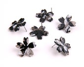 6PCS Tortoise Shell Acetate Acrylic Earring Earring Stud post-Sakura Cherry blossoms shaped-Earring findings-Jewelry Supplies 24mm A1215C