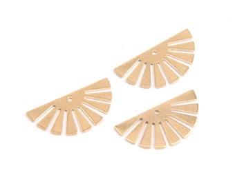 Water Droplet Shaped Earring Charms Raw Brass Earring JJB3864 Earring Findings 66.7x46.2mm Jewelry Supplies
