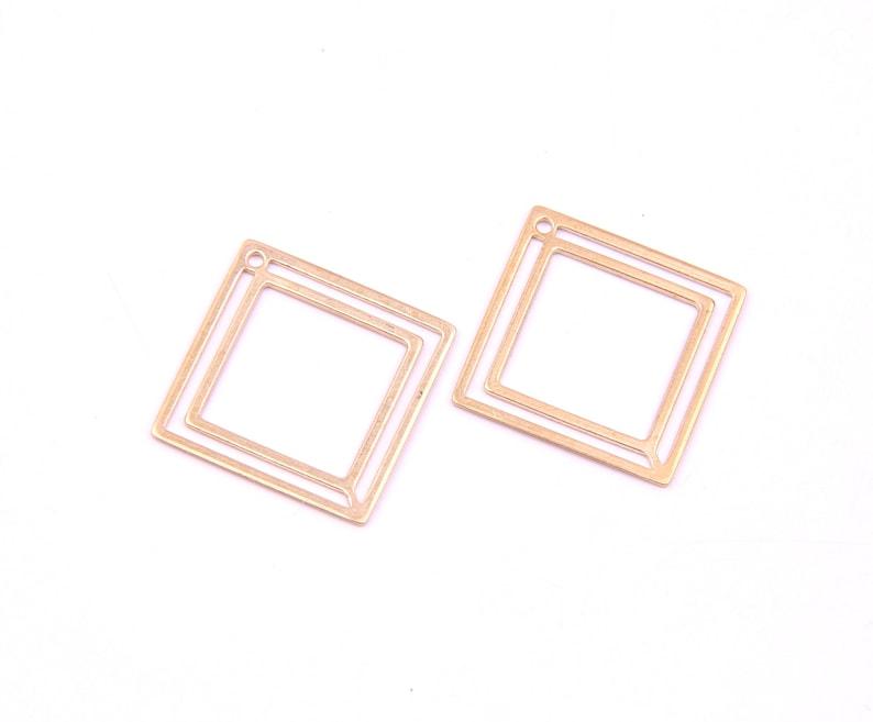 Square shape Earring Charms Earring Pendant hoop-connnector-earring findings-Jewelry Supplies-earring findings 20mm D1175
