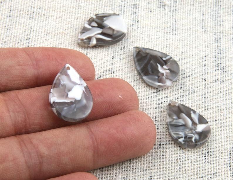 Acetate Acrylic Diy Earring Charms  TEAR DROP  Shaped Pendant Acetate Tortoise Shell charm  Earring findings  jewelry supply CS9001D