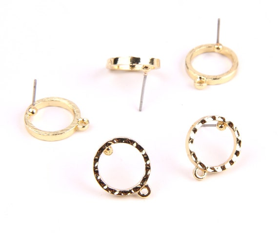 6pcs Zn Alloy Earring Charms Earring Supply 23mm Round Fringed Tassel Shaped Earring connector-Earring findings-jewelry supply 11mm