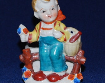 Occupied Japan Figurine/Container