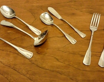 Oneida Plymouth Rock Stainless Flatware - Knife, Forks, Spoons