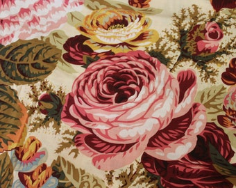 Kaffe Fassett Collective - Philip Jacobs PJ29 Floral Burst (Natural) Fabric for Rowan/Westminster - OOP - Price is by the Yard