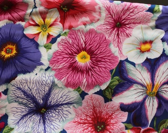 Kaffe Fassett Studios - Philip Jacobs PWPJ050 Petunias (Purple) Fabric for Rowan/Wesminster - OOP