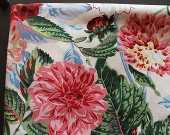 Kaffe Fassett Studios - Philip Jacobs PJ38 Pom Pom Dahlias (Natural) Fabric for Rowan/Wesminster - OOP - By The Yard
