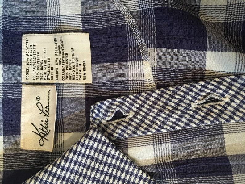Vintage 80\u2019s Does 1950\u2019s Plaid Tieback House Dress