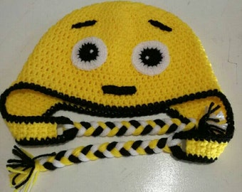 776c0dbcdc8 Character Beanies - Yellow worried Emoji