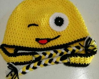 3e07677e8ea Character Beanies - Yellow winking Emoji