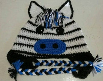 b7551182bdd Character Beanies - blue Zebra