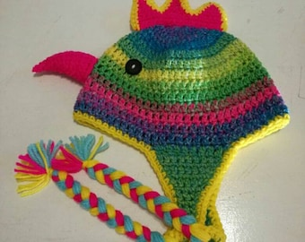 0404d95d6e2 Character Beanies - rainbow chicken