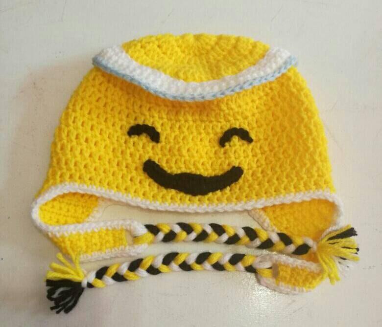 94b849c8a48 Character Beanies Yellow Angel Emoji