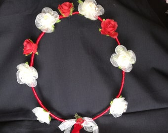 Red hair Wreath ceremony, graduation, woman, wedding, flowers