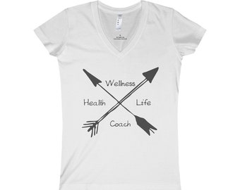 Health Wellness Life Coach Jersey VNeck Tee