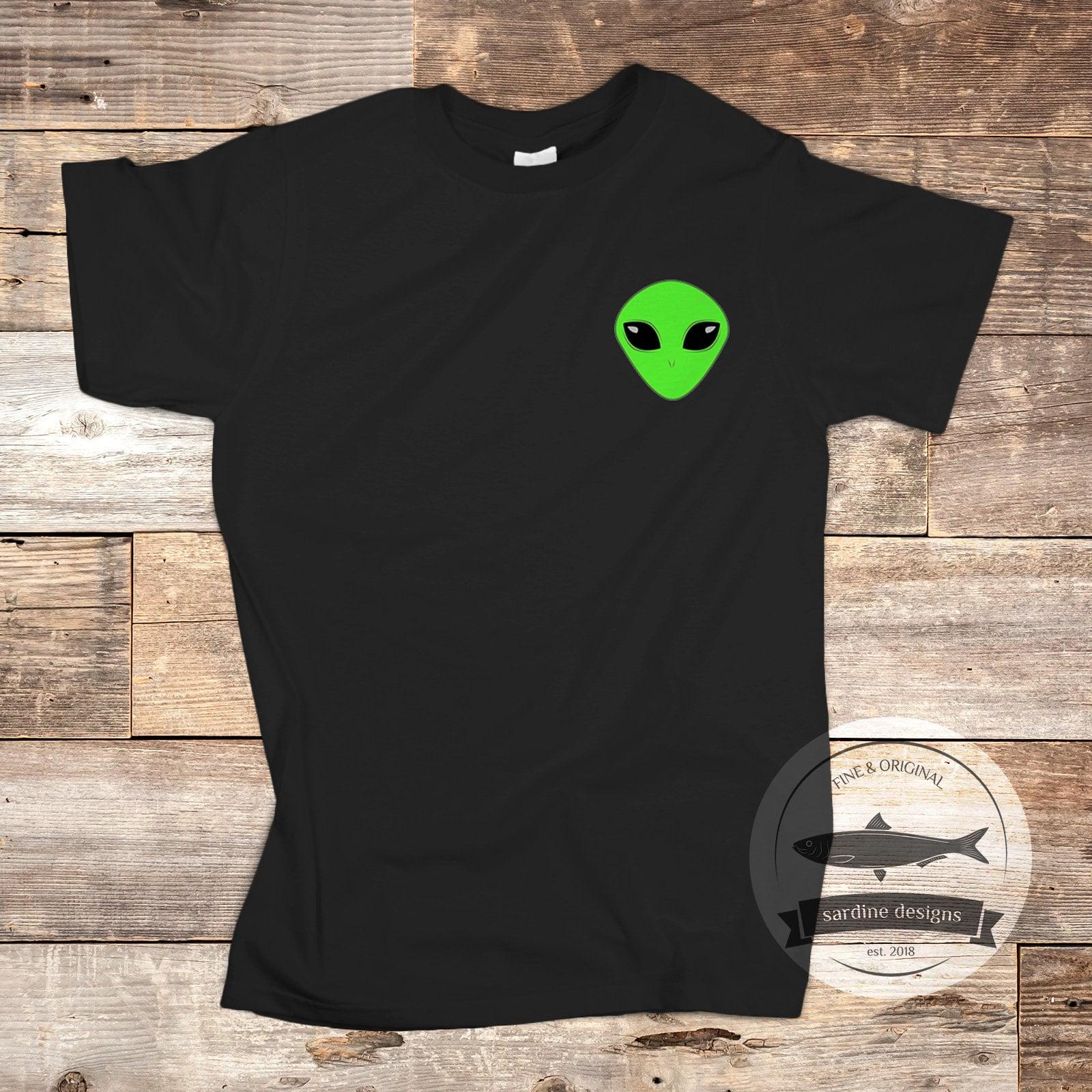 84964eea Alien T-Shirt Alien Shirt Pocket Shirt Alien Pocket Tee | Etsy