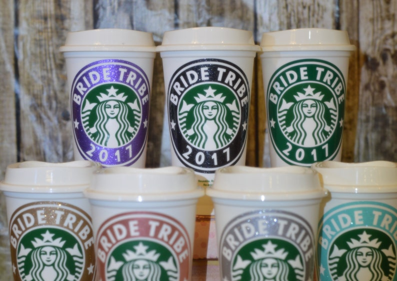 Bride Tribe Bridesmaid Gifts Personalized Cups with Name as Gifts for Bridesmaids Genuine Starbucks Cup bachelorette party ideas