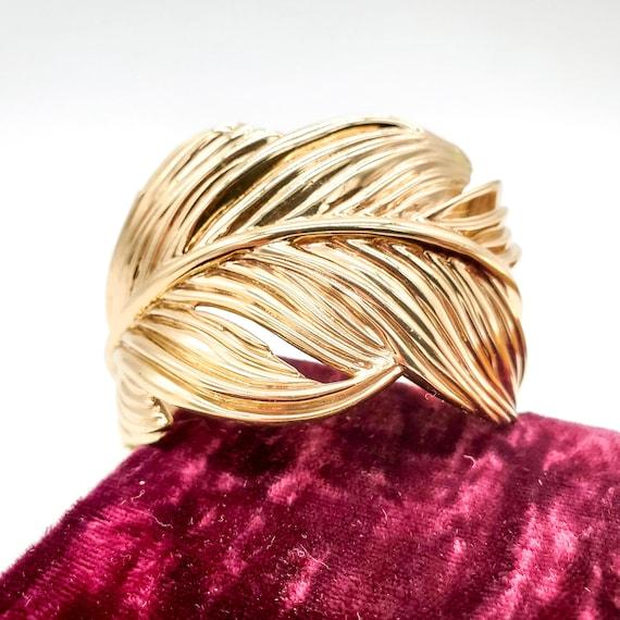 Large Feather Cuff Bracelet, Secret Garden Feather