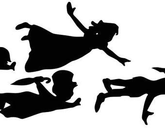 Peter Pan Silhouette Etsy