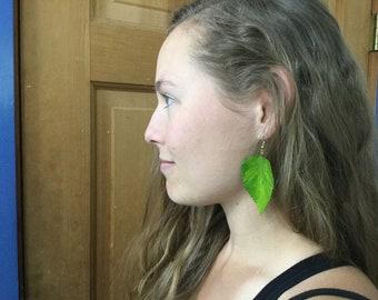 Unique leaf or fern earrings