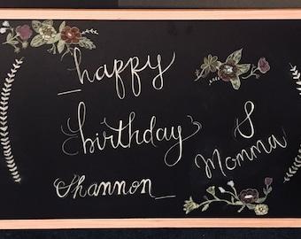 Happy Birthday Personalized Chalkboard