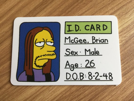 Mcgee Brian Etsy 'fake Id'