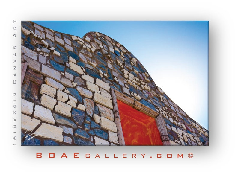 Slate Stone House Framed & Canvas Wall Art  New Life is Built image 0