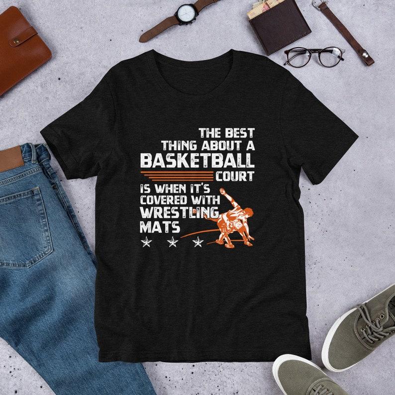 039b7334 Basketball Wrestling Mats Wrestlers Funny T-Shirt | Etsy